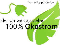 hosted by pd-design - 100% Ökostrom